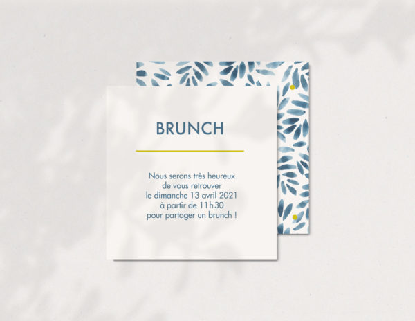 Cartone invitation lendemain de mariage Atelier nougatine