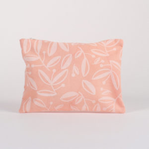 pochette serigraphié rose motif vegetal atelier nougatine rennes